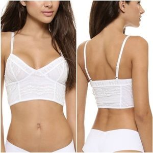 Free People white lace cropped bralette